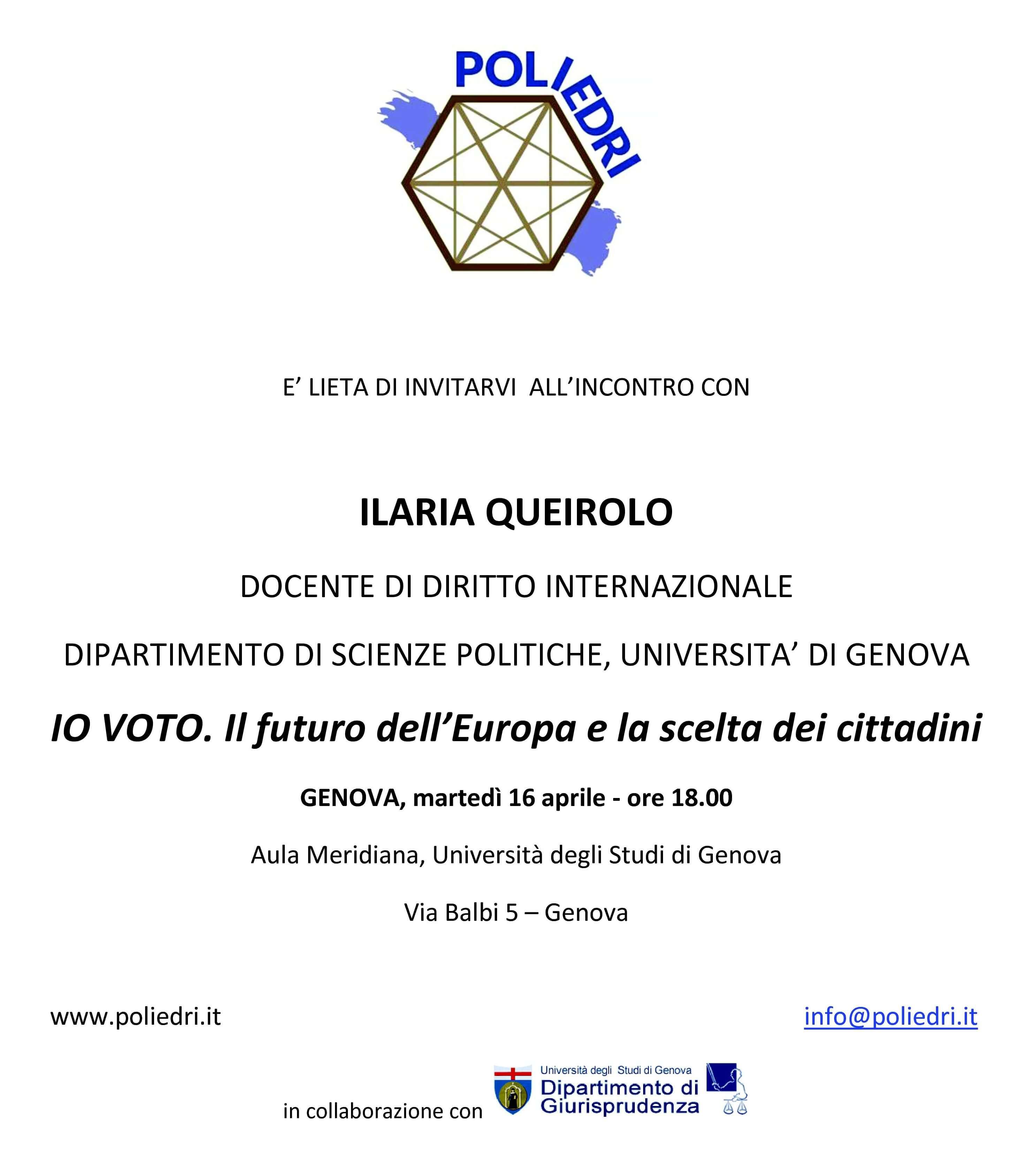IO VOTO. Il futuro dell'Europa e la scelta dei cittadini