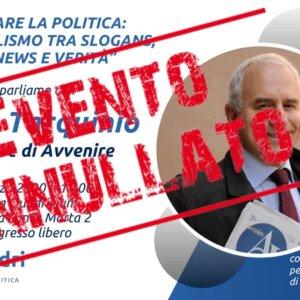 Narrare la politica: con Marco Tarquinio – 6 marzo 2020