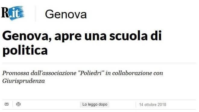 Read more about the article Poliedri su La Repubblica Genova